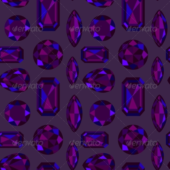 GraphicRiver Gemstone Seamless Pattern 7511006