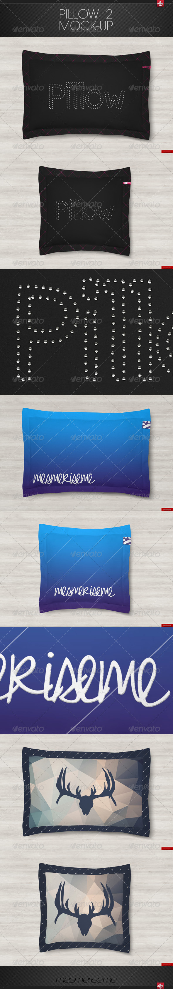 GraphicRiver Pillow 2 Mock-up 7511020