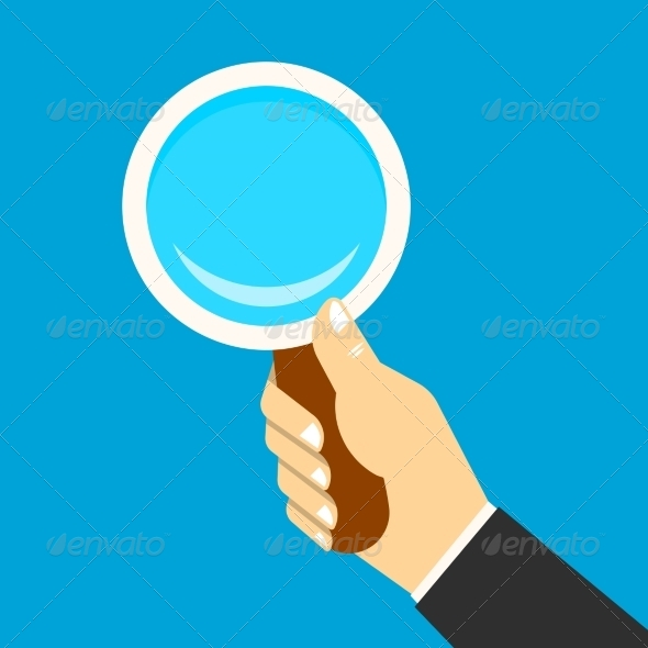 GraphicRiver Magnifying Icon in a Hand 7511141