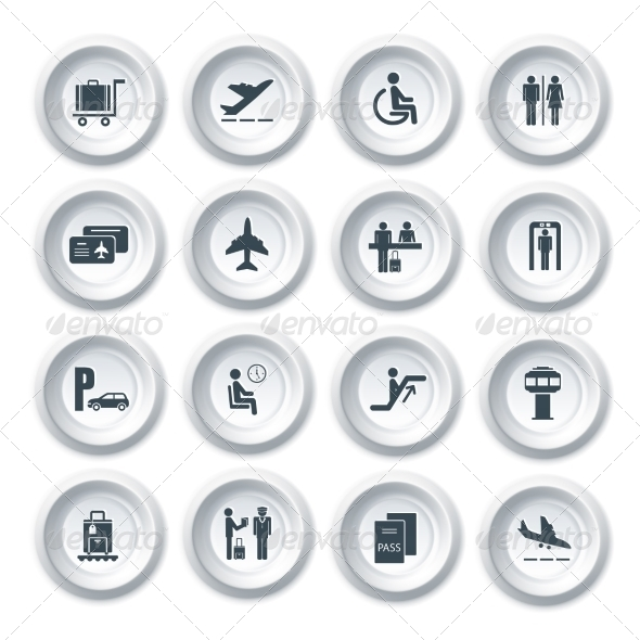 GraphicRiver Airport Icons Set 7511160