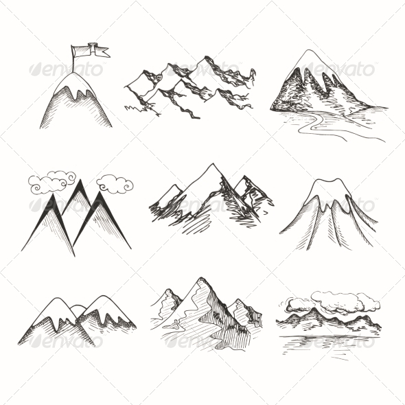 GraphicRiver Mountain Top Icons 7511165