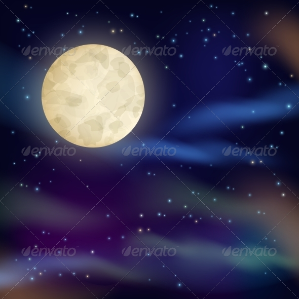GraphicRiver Night Sky Background 7511189