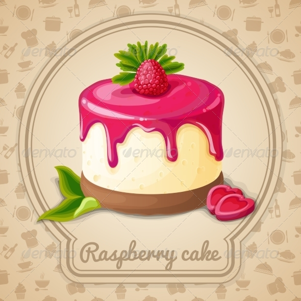 GraphicRiver Raspberry Cake Emblem 7511236