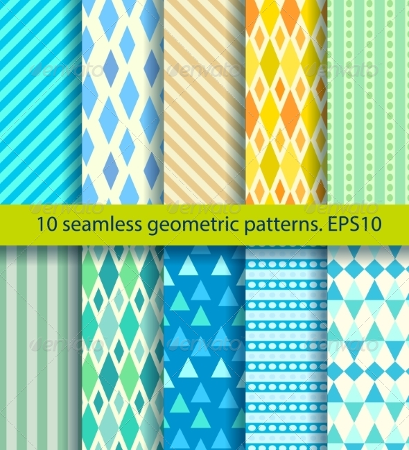 GraphicRiver Ten Seamless Pattern 7511244