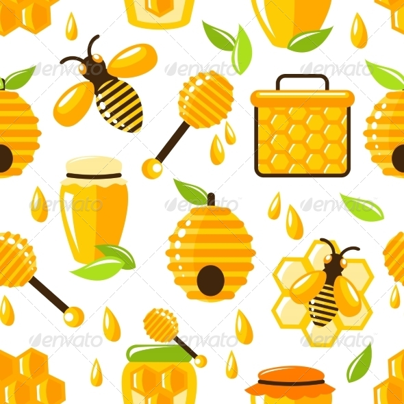 GraphicRiver Honey Seamless Pattern 7511268