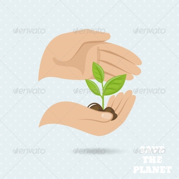 GraphicRiver Hands Earth Protect Poster 7511283
