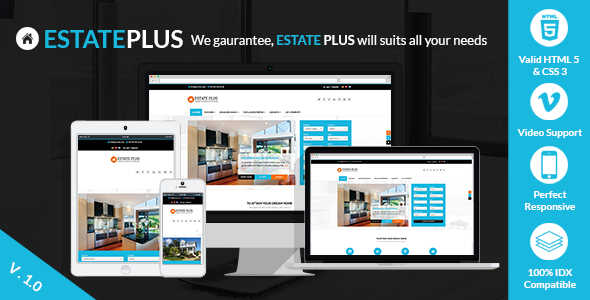 ThemeForest Estate Plus Responsive Real Estate WP Theme 7452558