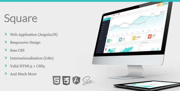 ThemeForest Square Responsive Admin App with AngularJS 7511722