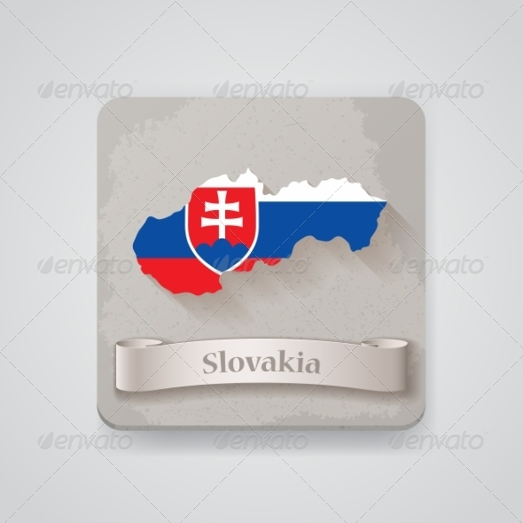 GraphicRiver Icon of Slovakia Map with Flag 7512188