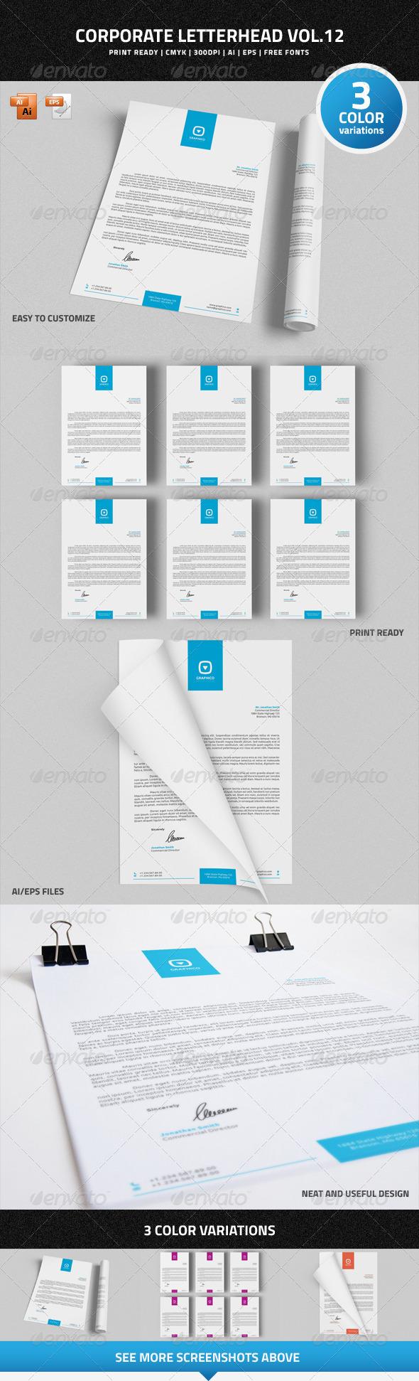 GraphicRiver Corporate Letterhead Vol.12 7512254