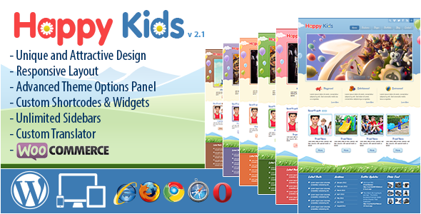Happy Kids - Children WordPress Theme - Children Retail