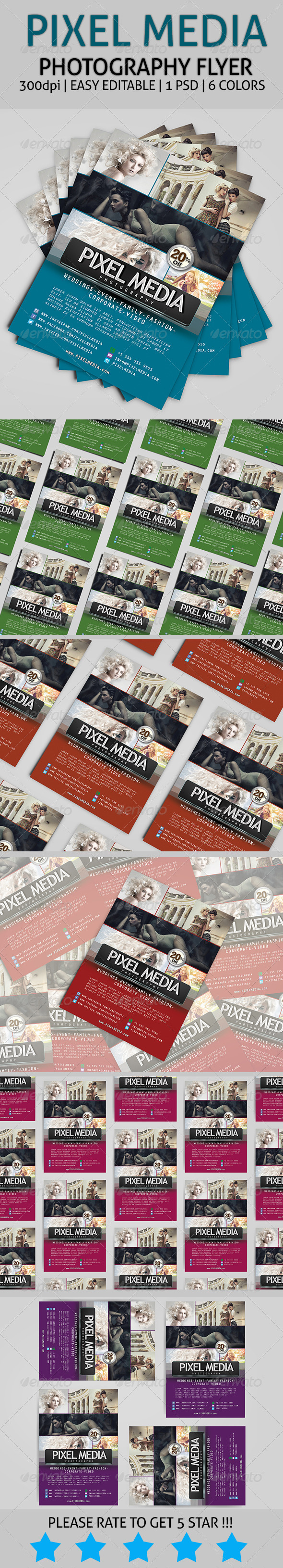 GraphicRiver Pixel Media Photography Flyer 7512653
