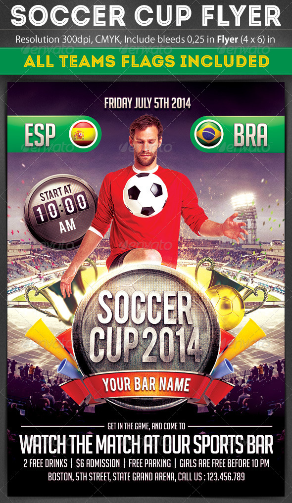 GraphicRiver Soccer Cup Flyer 7511245