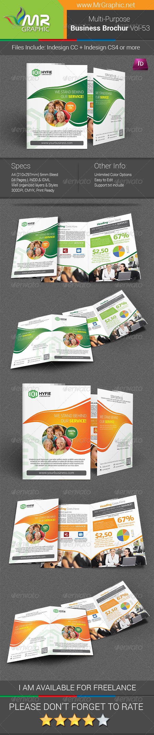 GraphicRiver Multipurpose Business Brochure Template Vol-53 7513028