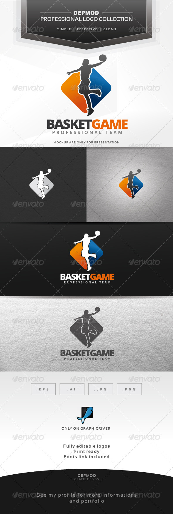 GraphicRiver Basket Game Logo 7513720