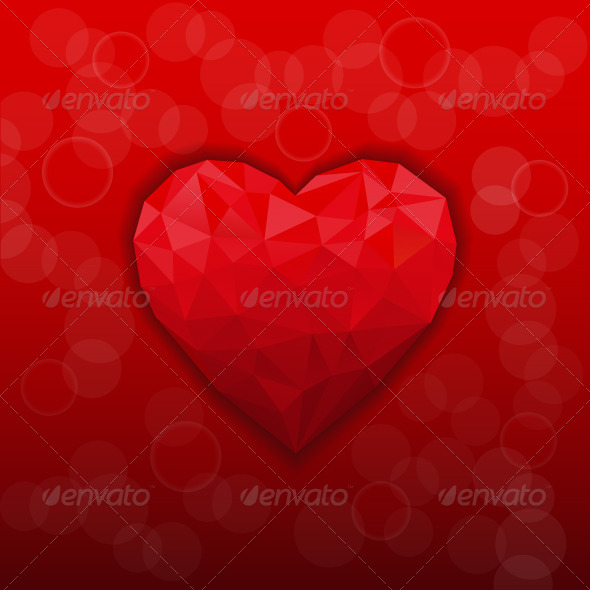 GraphicRiver Heart Background 7513833