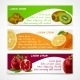 Tropical Fruits Banner Set - GraphicRiver Item for Sale