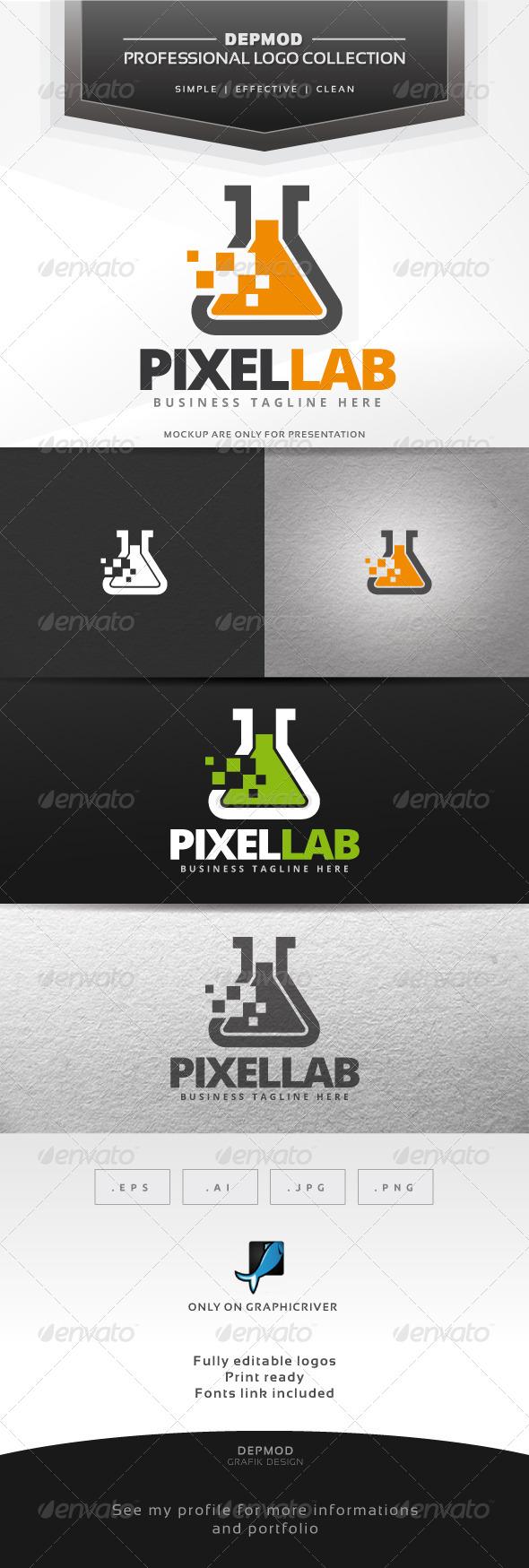 GraphicRiver Pixel Lab Logo 7514266