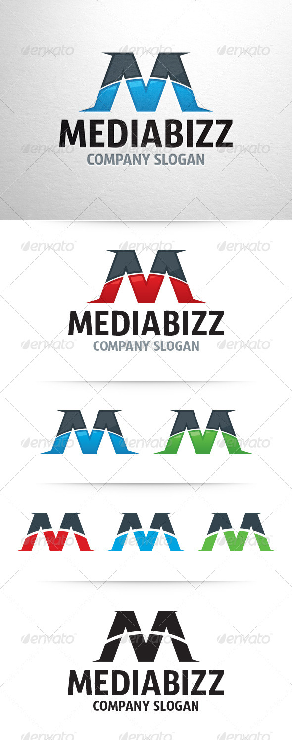 GraphicRiver Media Bizz Letter M Logo 7514297