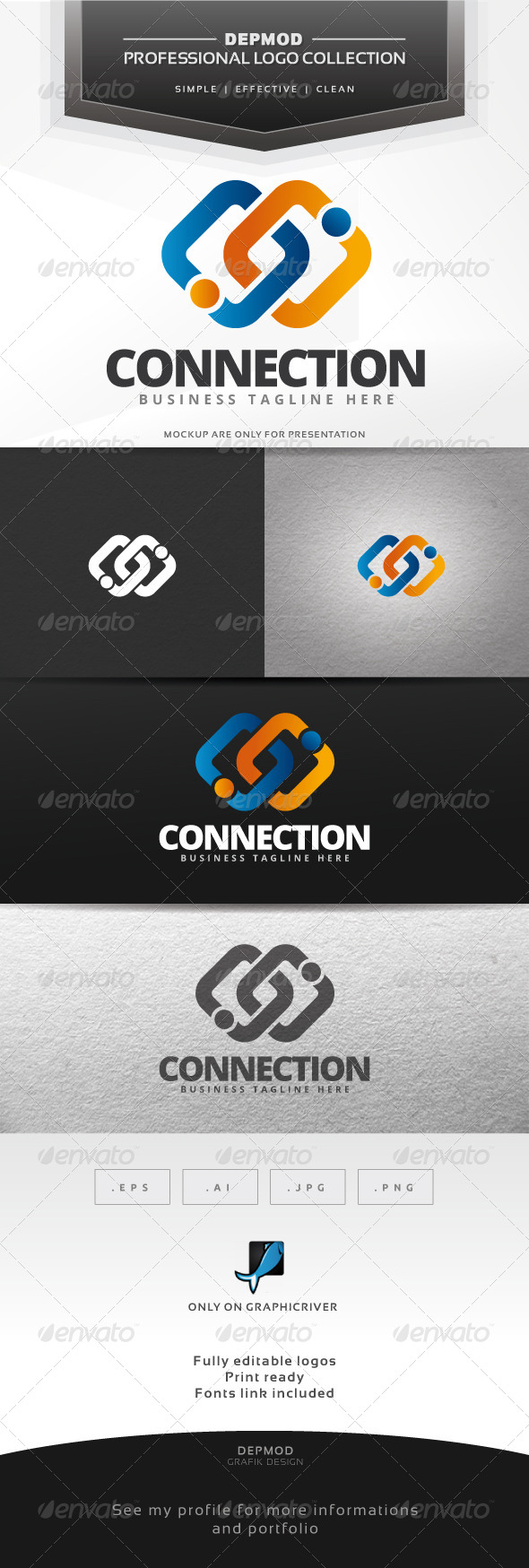 GraphicRiver Connection Logo 7514731