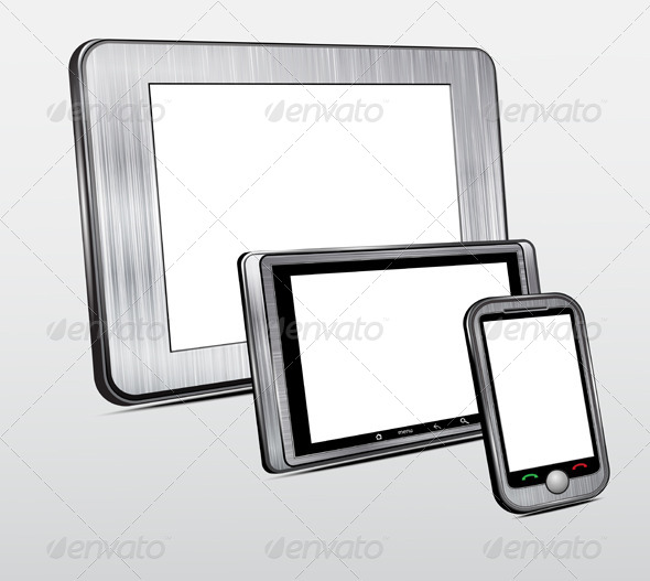 GraphicRiver Set of Mobile Electronic Technics with Metal Case 7516609