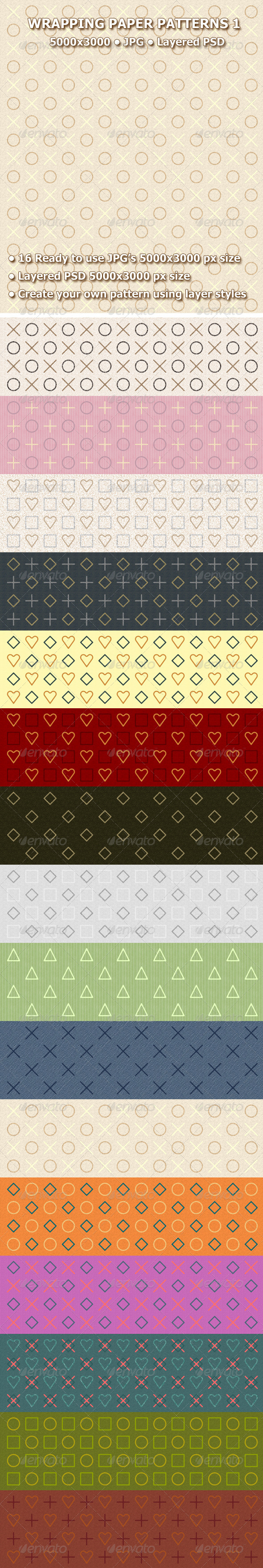 GraphicRiver Wrapping Paper Patterns 1 7516671