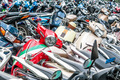 Great number of motorbikes on parking zone. - PhotoDune Item for Sale