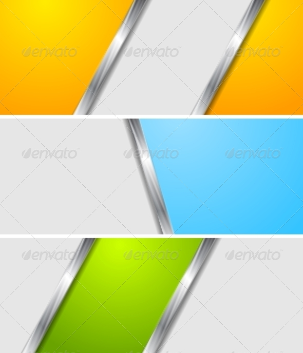 GraphicRiver Abstract Colourful Metallic Banners 7516979