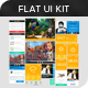 Flat Goodies: A Flat UI Kit - GraphicRiver Item for Sale