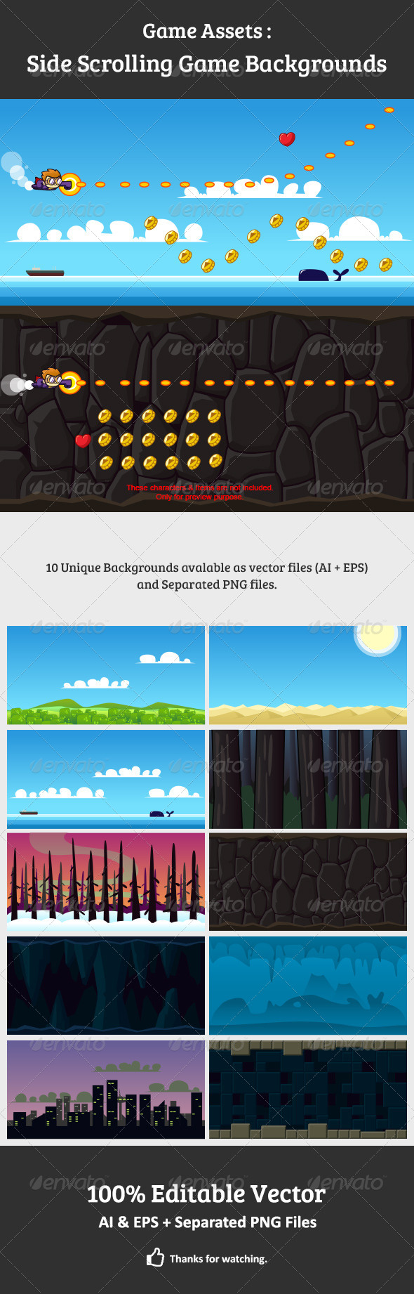 GraphicRiver Side Scrolling Game Backgrounds 7513749
