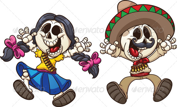 GraphicRiver Mexican Skeletons 7518239