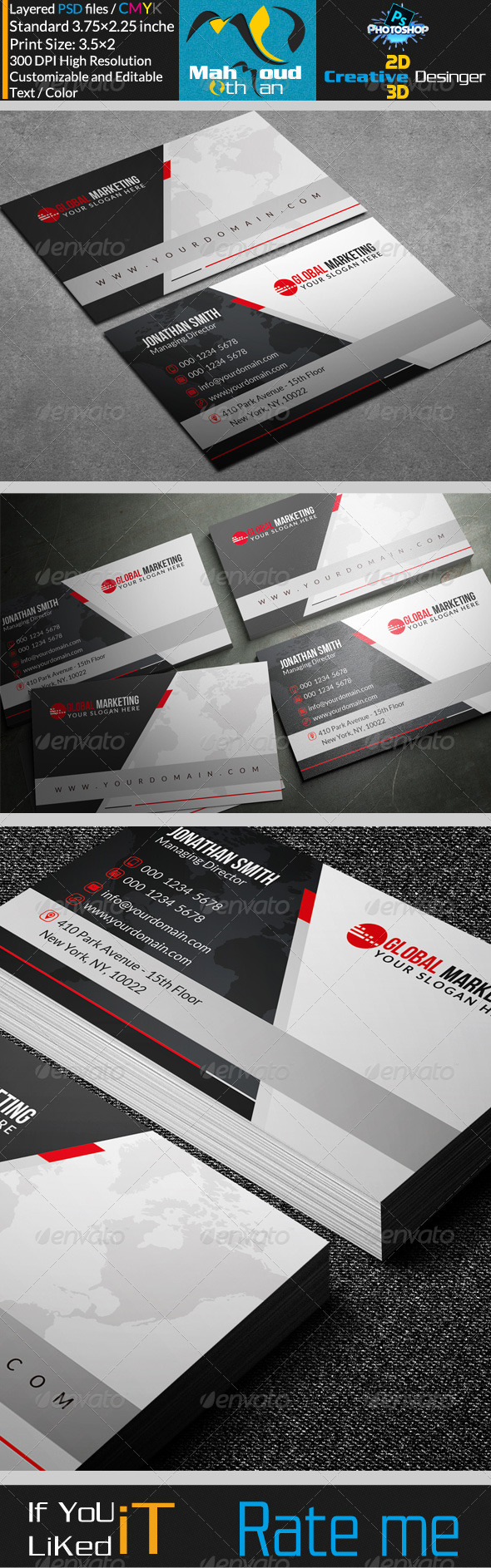 GraphicRiver Corportae Business Card V18 7518257
