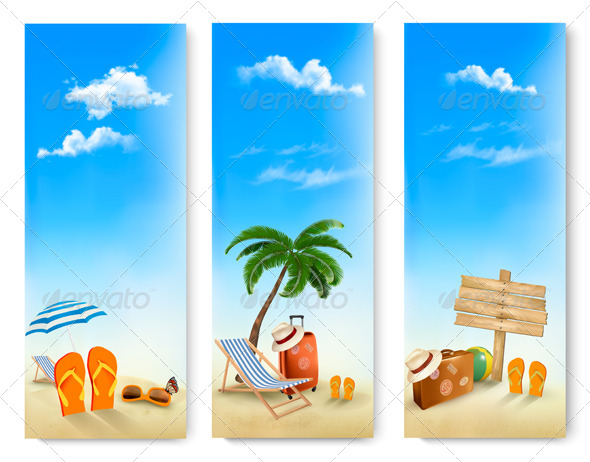 GraphicRiver Three Summer Travel Banners 7518455