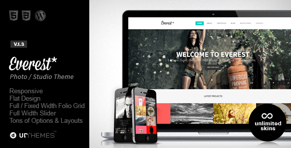 Everest - Responsive Portfolio WordPress Theme - Portfolio Creative