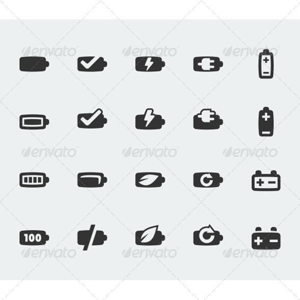 GraphicRiver Battery Icons 7518650