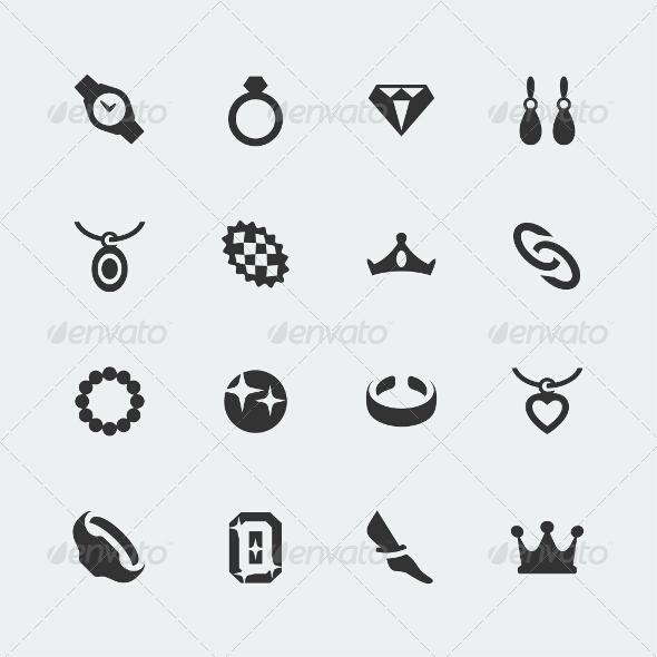 GraphicRiver Vector Jewelry Mini Icons Set 7518708