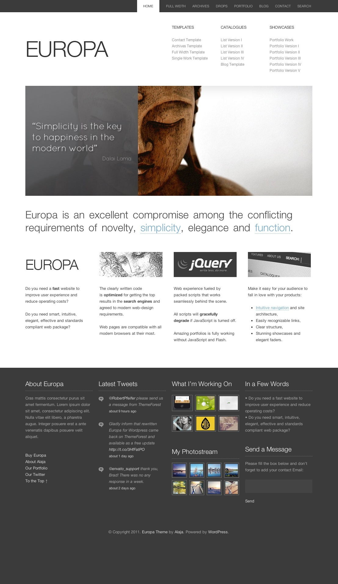 Europa: Clean Business & Portfolio Theme