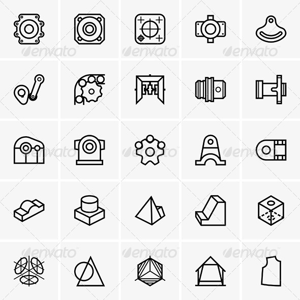 GraphicRiver Engineering Icons 7519842