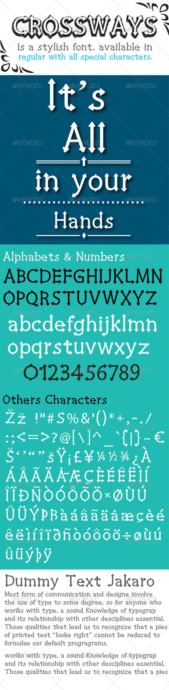 GraphicRiver Crossways Font 7520181