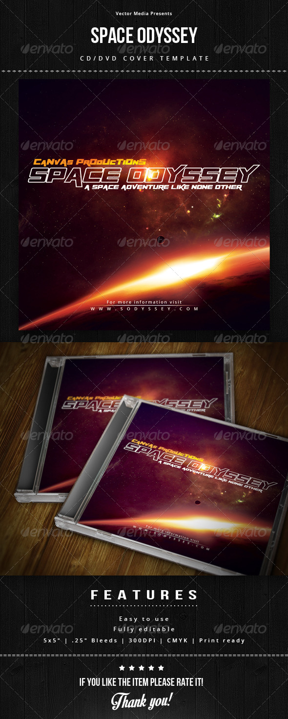 GraphicRiver Space Odyssey Cd Cover 7520455