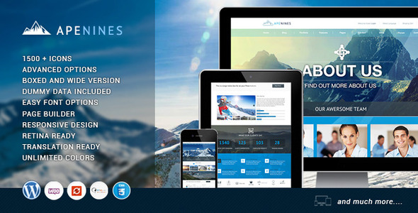 ThemeForest Apenines Responsive Multi-Purpose Theme 7470776