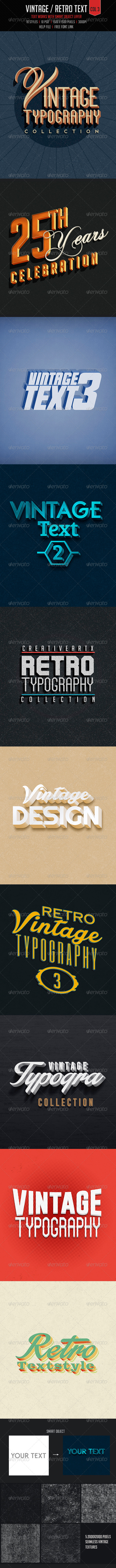 GraphicRiver Vintage Retro Text Col3 7522204
