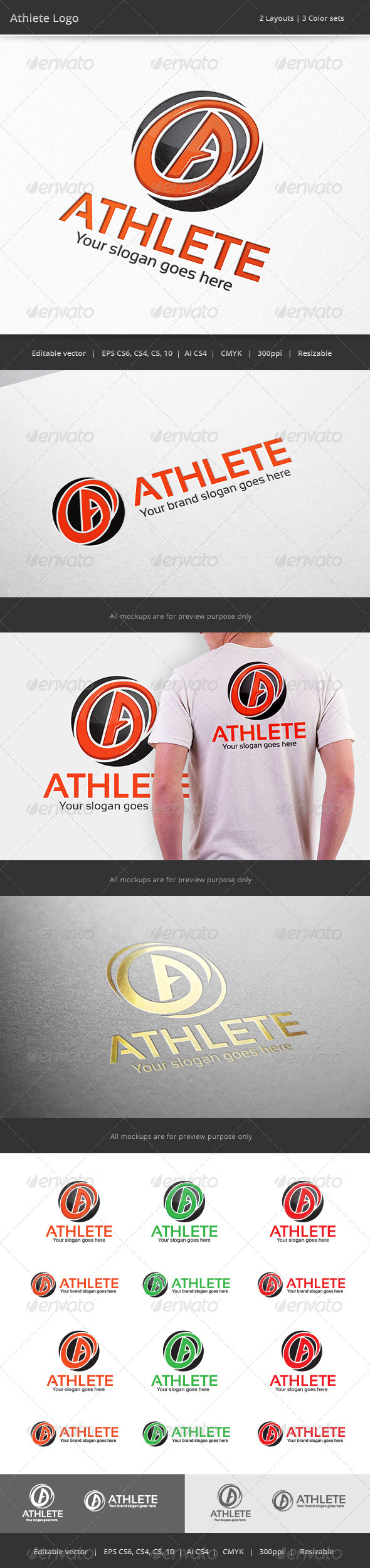 GraphicRiver Athlete Letter A Logo 7522429