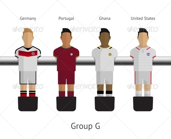 GraphicRiver Table Football Soccer Players Group G 7522490