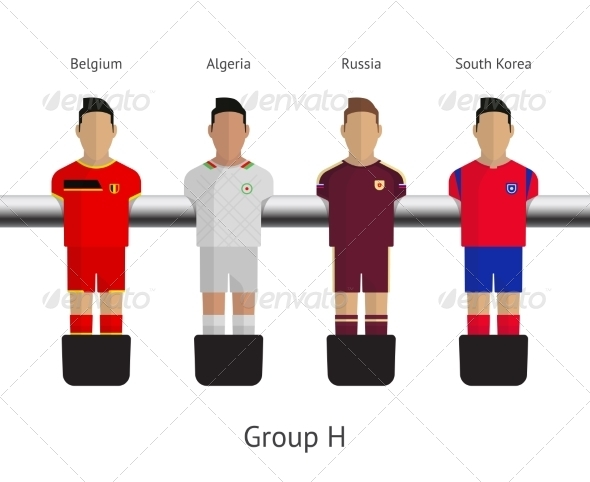 GraphicRiver Table Football Soccer Players Group H 7522492