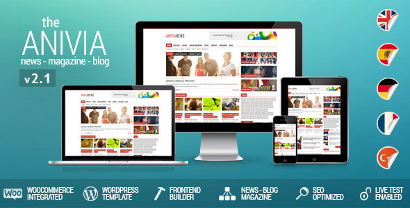 Anivia - News, Magazine, Blog Wordpress Templates - Blog / Magazine WordPress