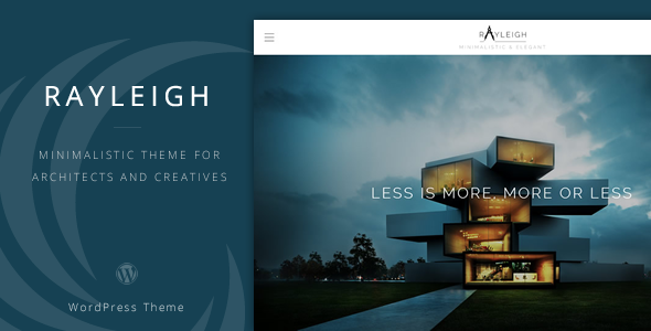 ThemeForest Rayleigh A Responsive Minimal Architect Theme 7522555
