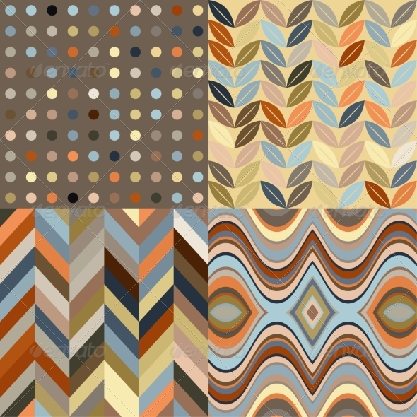 GraphicRiver Set of Retro Seamless Abstract Wavy Backgrounds 7522807