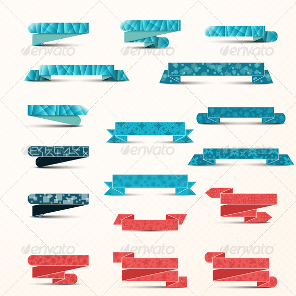 GraphicRiver Collection of Ribbons 7522890