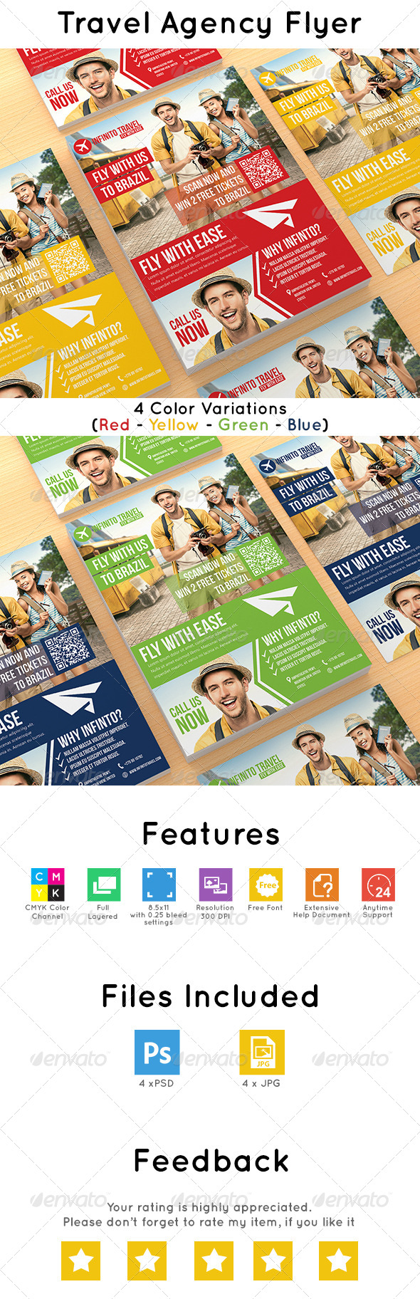 GraphicRiver Travel Agency Flyer 7523958